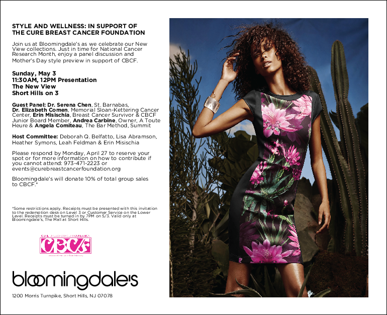 Cure Breast Cancer Foundation Bloomingdales X Cbcf Style